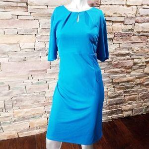 The Limited Mykonos Blue Sheath Dress sz 14